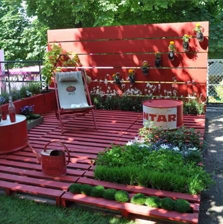 Arredare il giardino con i pallet beauty blog - Cucina da giardino ...